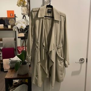 Bebe Mid length Trench coat and scarf